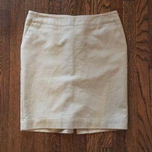 Merona khaki pencil skirt with pockets
